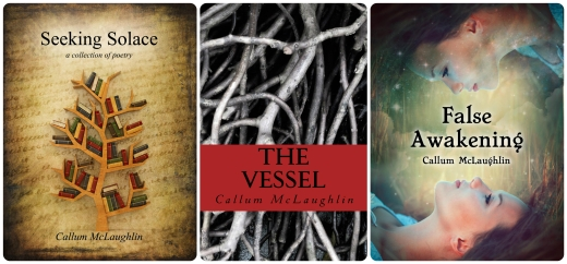 The cover art for my three books.