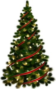 Large_Transparent_Christmas_Tree_with_Red_Ribbon_Clipart